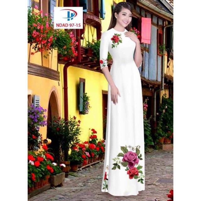 Vải áo dài hoa hồng - 3001534 , 400800502 , 322_400800502 , 220000 , Vai-ao-dai-hoa-hong-322_400800502 , shopee.vn , Vải áo dài hoa hồng