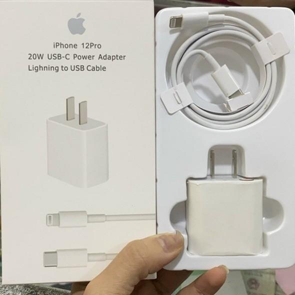 Bộ sạc iphone 20W, 18W - Sạc nhanh cho các đời iPhone 8 đên 12 Pro max [ BẢO HÀNH 1 ĐỔI 1]