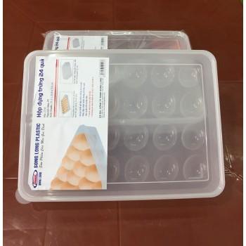 Hộp đựng trứng 24 quả Song Long nhỏ gọn tiện lợi chất liệu bền đẹp - br00313