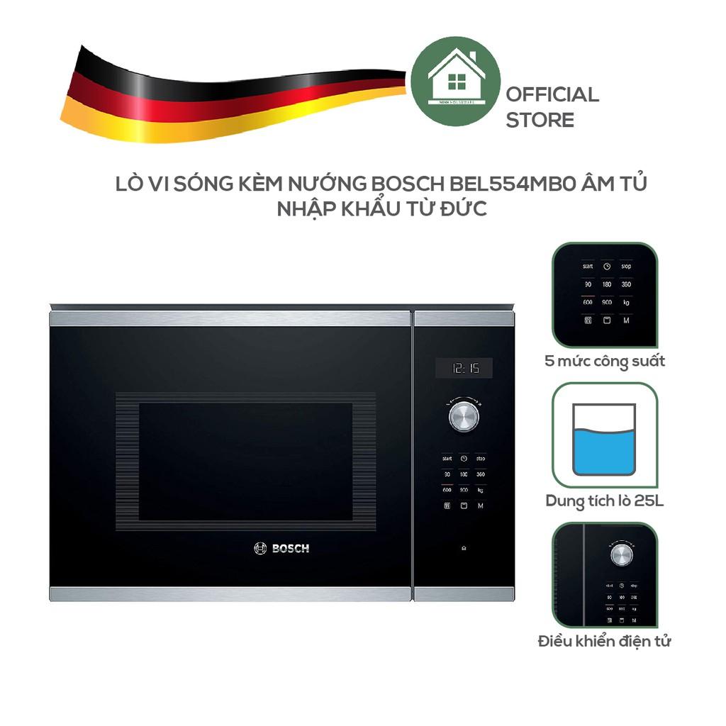 Lò Vi Sóng Kèm Nướng Bosch BEL554MB0 Âm Tủ - Nhập Khẩu Từ Đức