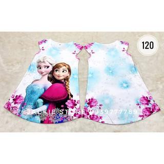 Đầm Elsa-Anna hoa tím