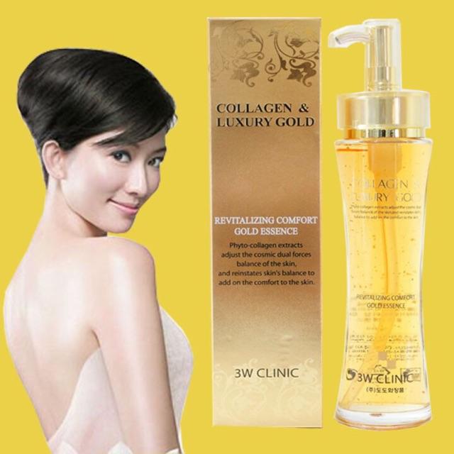 Gel dưỡng trắng da chống lão hoá Collagen & Luxury cao cấp 3W CLINIC 150ml