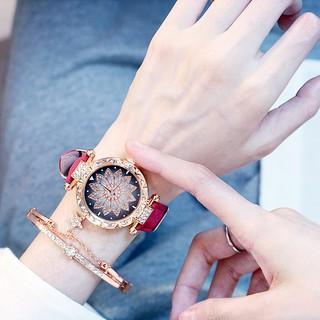 Đồng hồ thời trang nữ Candycat mặt bông hoa đính đá D6537