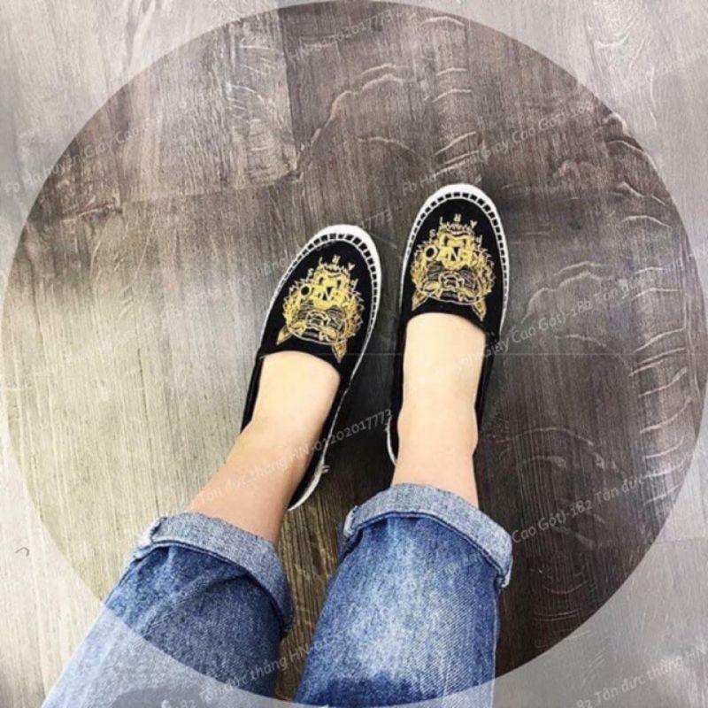 [Hàng loại 1] Giày lười hình hổ đế giả cói slipon quốc dân thời trang trẻ trung năng động