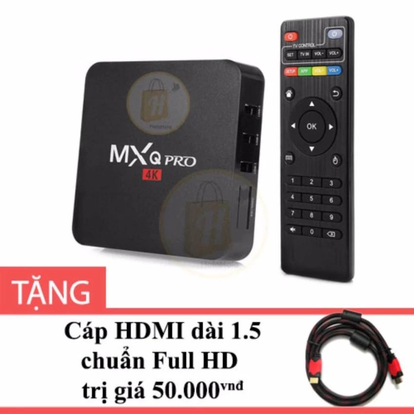Android TV Box MXQ Pro 4K màu Đen tặng cáp HDMI dài 1.5m