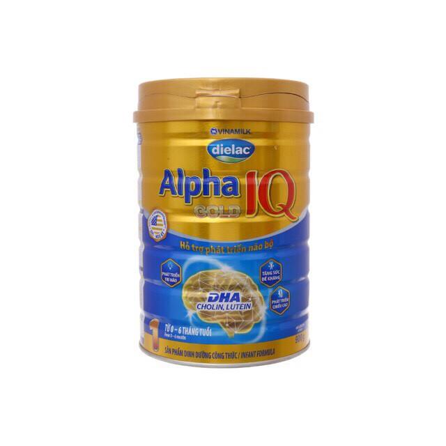 Sữa dielac Alpha Gold IQ step 1- 900g dành cho trẻ từ 0 - 6 tháng tuổi
