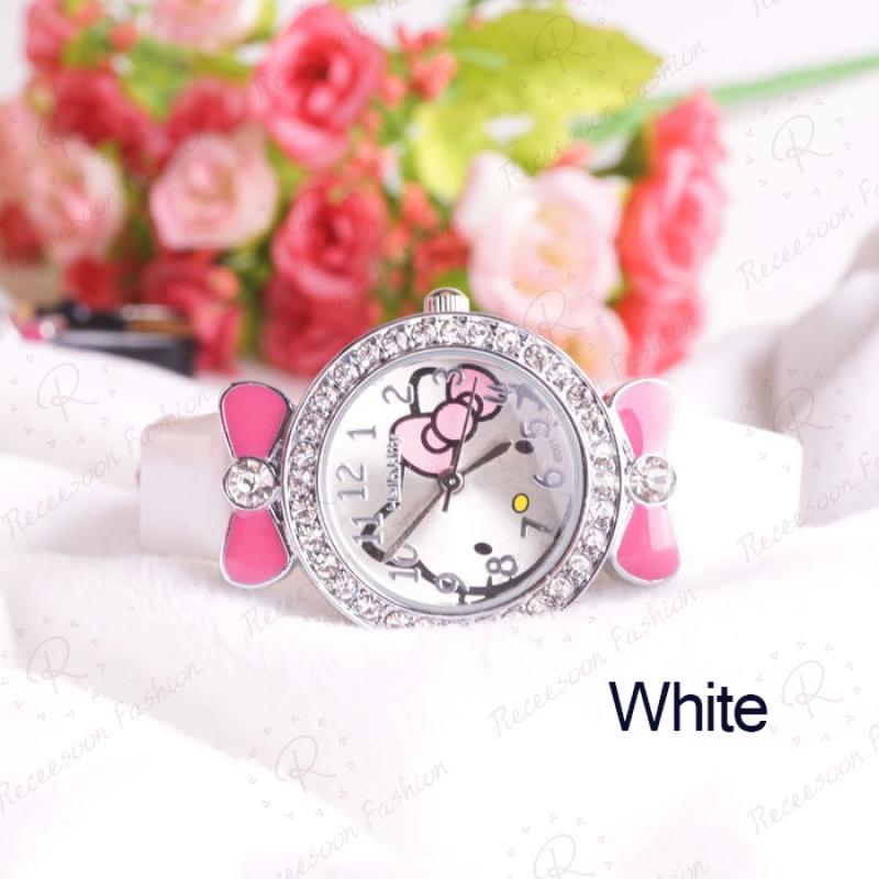 Đồng hồ đeo tay hình Hello Kitty xinh xắn dành cho bé gái