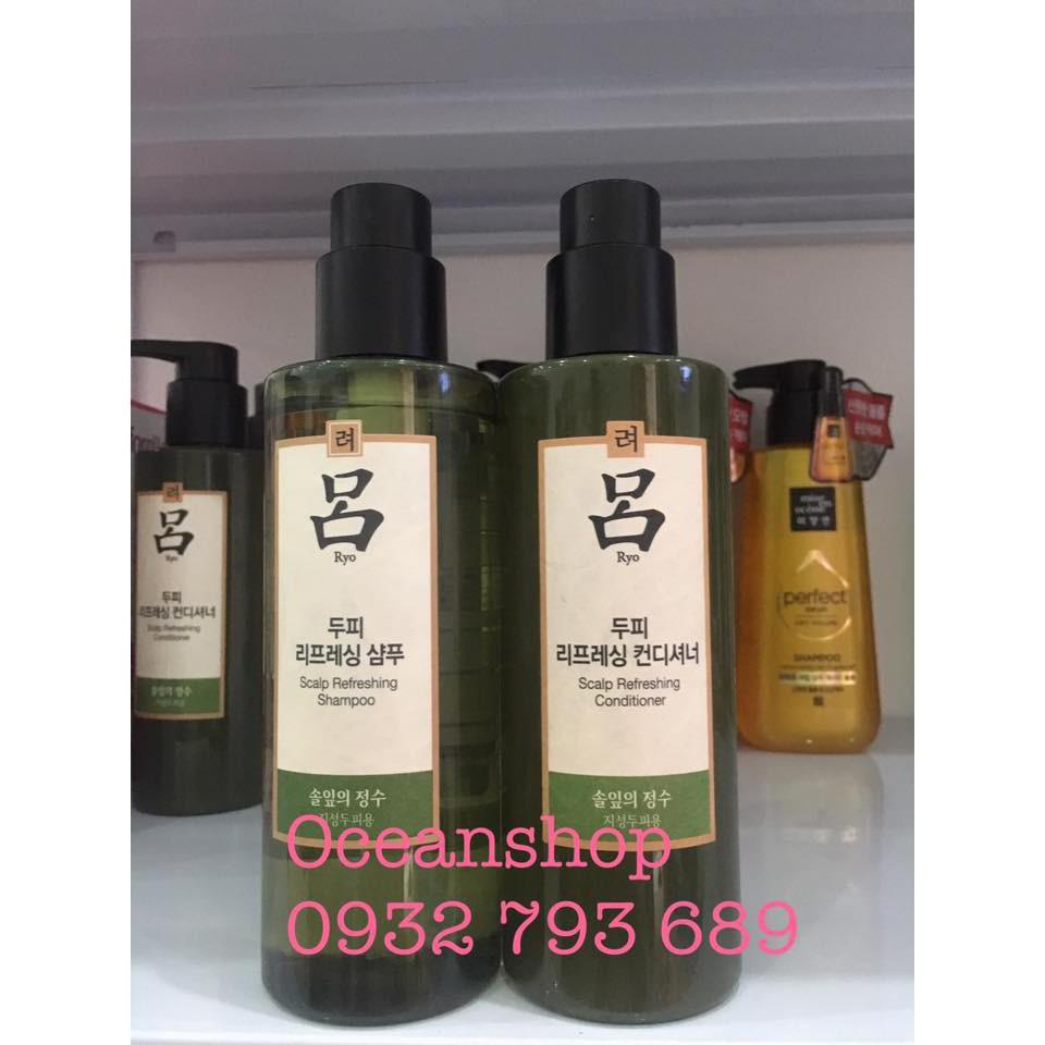 Dầu gội, dầu xả cho tóc bết dầu Ryo SPA Therapy Scalp Rereshing Shampoo 400g về hàng SALE 50% (Bill