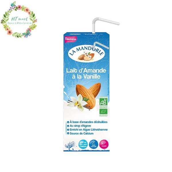 Sữa hạnh nhân vani hữu cơ La Mondorle 200ml