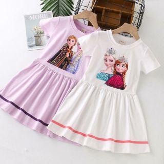 Váy Elsa Cotton Quảng Châu Mùa Hè Mẫu Mới 2021 (13-35kg)