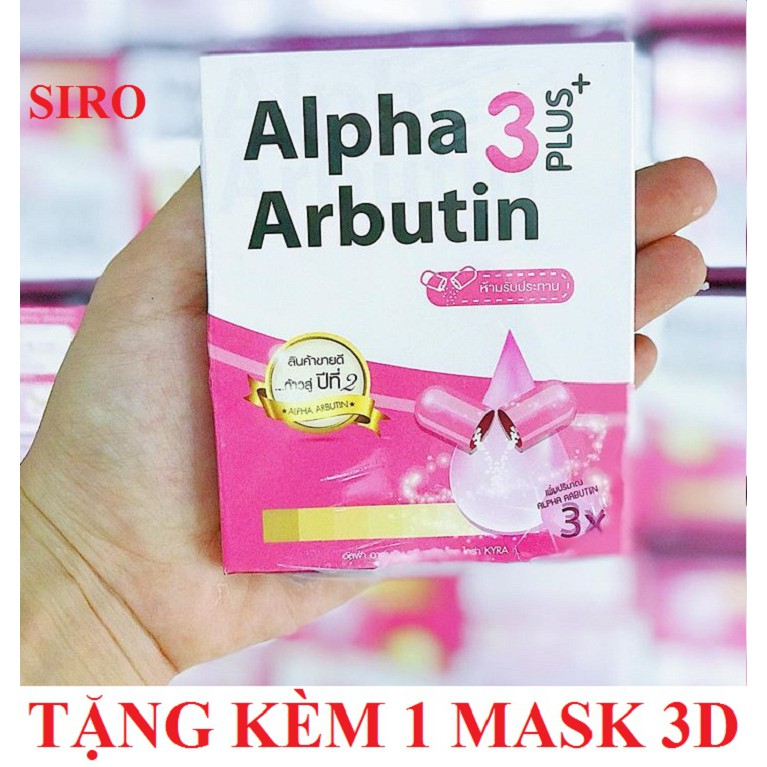 Viên kích trắng Alpha Arbutin 3 Plus+ (10 viên/vỉ/hộp) + Tặng kèm 1 mặt nạ 3D Foodaholic - 3362134 , 951891201 , 322_951891201 , 85000 , Vien-kich-trang-Alpha-Arbutin-3-Plus-10-vien-vi-hop-Tang-kem-1-mat-na-3D-Foodaholic-322_951891201 , shopee.vn , Viên kích trắng Alpha Arbutin 3 Plus+ (10 viên/vỉ/hộp) + Tặng kèm 1 mặt nạ 3D Foodaholic
