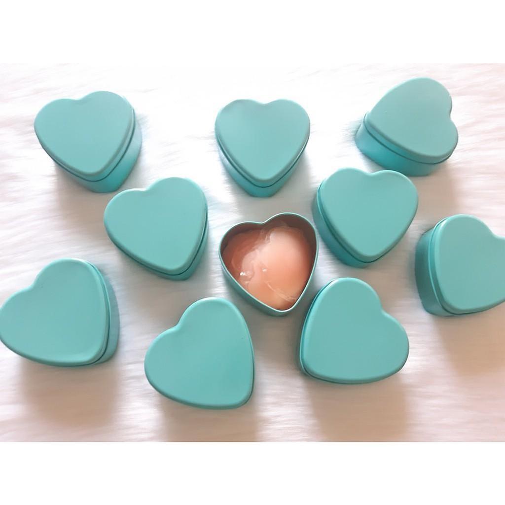 Dán ngực silicon có nhũ trắng chống dính ở giữa hộp 5 cặp Đôi ( LOẠI 1)