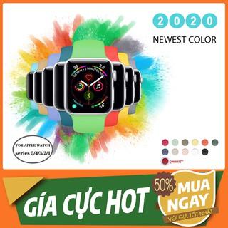 [Màu mới HOT TREND] Dây Apple Watch Cao Su đủ màu cho series 5 4 3 2 1 [Apple Watch 38 40 42 44] thumbnail