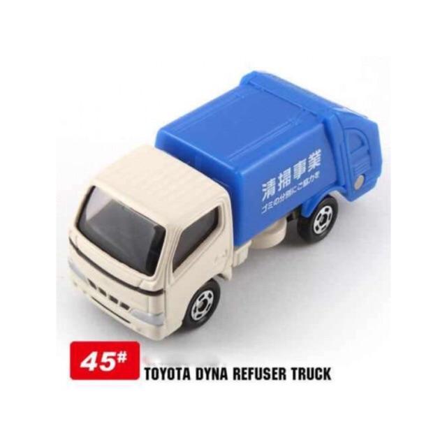 Xe mô hình T87 Tomica Toyota Dyna no.45 ( Xe rác )