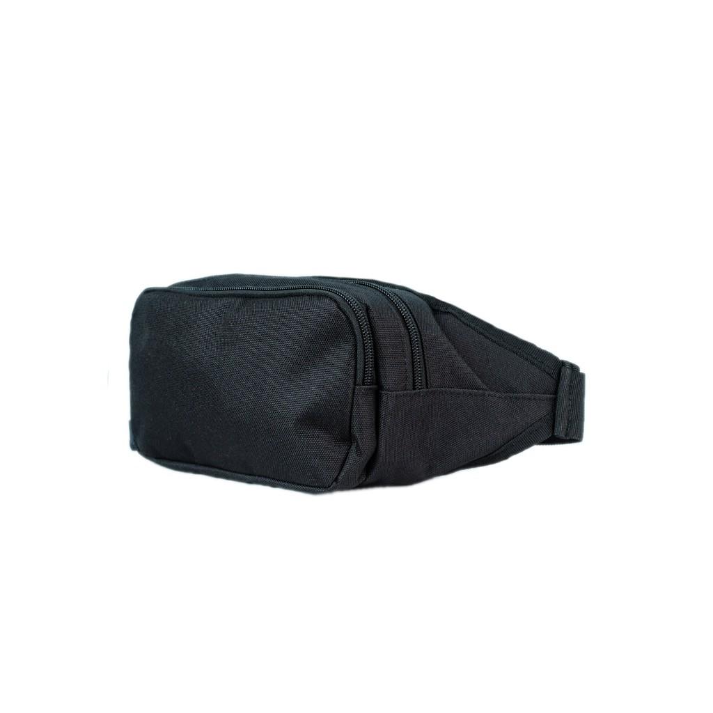 Túi bao tử Unisex vải bố (Full đen) 3611
