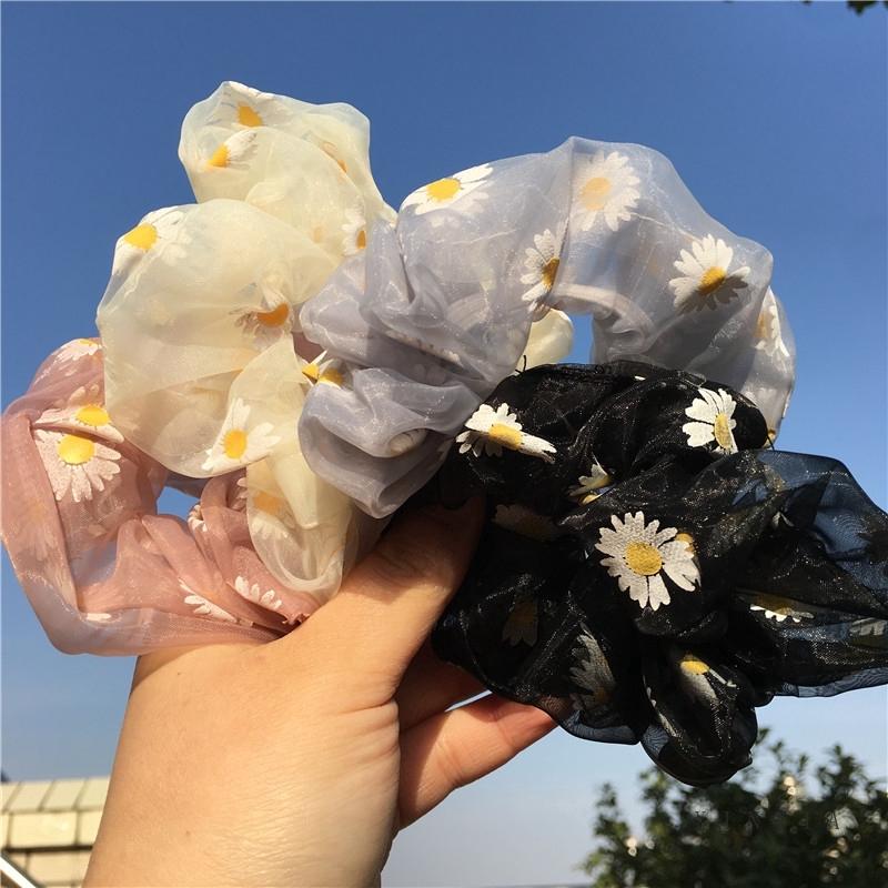 [Mã FA57 hoàn 12K xu đơn 50K] Scrunchies Elastic Hair Tie HairBand Ring Ponytail Holder Rope Hair Accessories