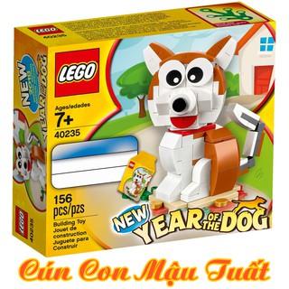 LEGO 40235 Cậu Vàng, Cún Con Mậu Tuất – Đồ Chơi LEGO Chính Hãng Đan Mạch