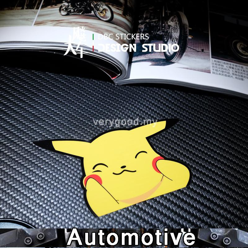 Car reflective stickers creative personality car stickers yellow Pikachu fun stickers cover scratch car stickers