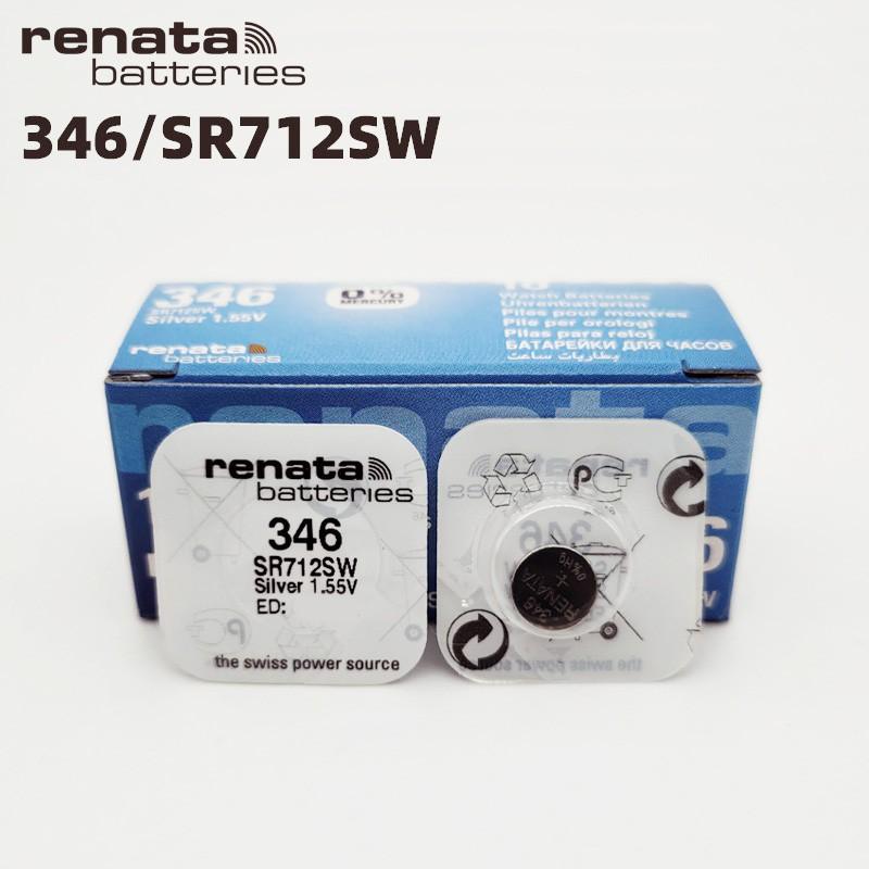 Pin đồng hồ Thụy Sỹ RENATA 346 / SR712SW silver bạc Made in Swiss (Loại tốt - Giá 1 viên)