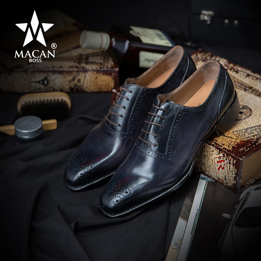 Giày Tây HandMade Macan Boss Chính Hãng Mã OXM34