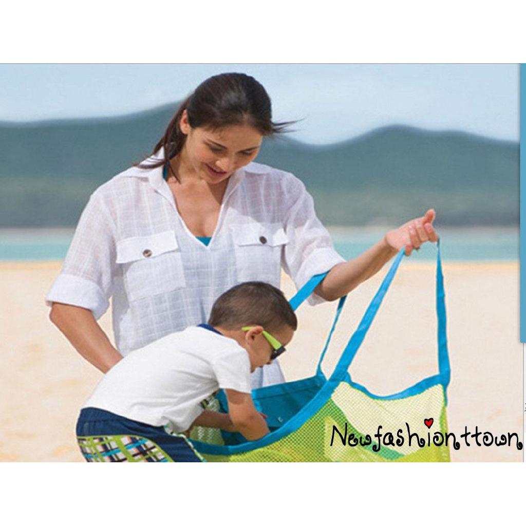 ღtwღLARGE MESH BAGS CHILDREN TOYS BEACH SAND AWAY SHOULDER STORAGE NET BAGS MODERN