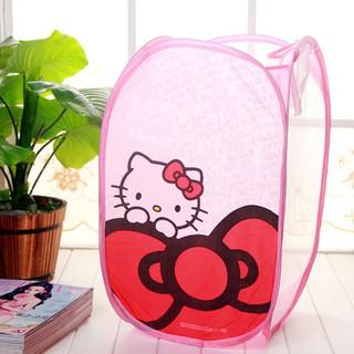 Giỏ đựng đựng quần áo, giỏ đựng đồ tiện dụng gấp gọn Hello Kitty