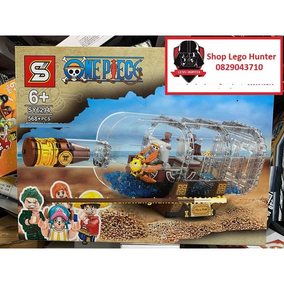 NonLego One Piece Bộ lắp ráp Thuyền Thousand Sunny trưng bày trong chai  thủy tinh SY 6294 - Bộ sưu tập hoạt hình truyện tranh
