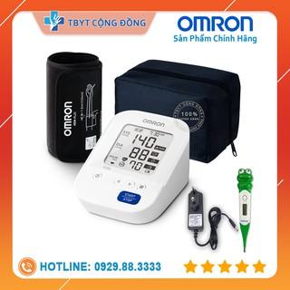 Máy đo huyết áp tự động Omron HEM-7156-A (Có Adapter) + Tặng kèm nhiệt kế điện tử đầu mềm Medilife (hình thú ngẫu nhiên)