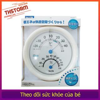 Đồng hồ treo phòng cho bé TANlTA 513 theo dõi nhiệt độ và độ ẩm bảo hành vàng THStorm thumbnail
