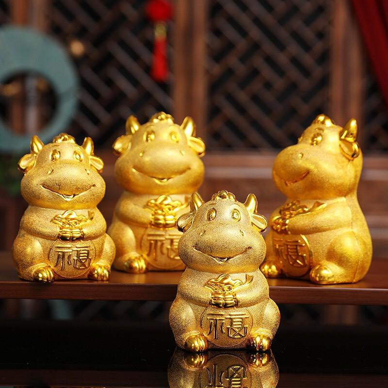 [HOT] Trâu vàng tiết kiệm cho bé - Tết Tân Sửu 2021 - lợn tiết kiệm - heo đất