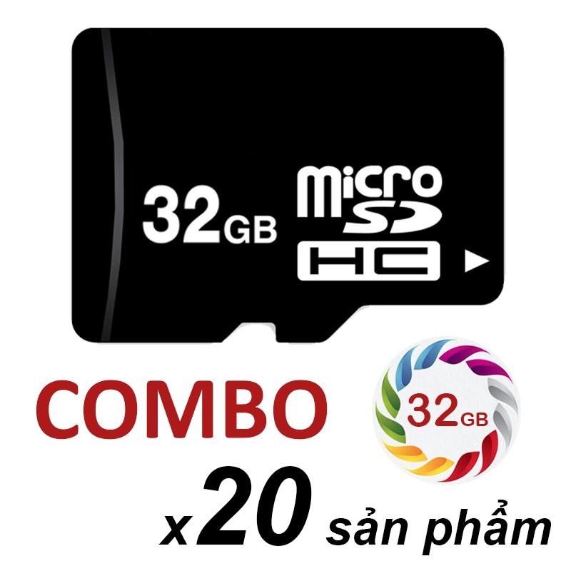 Combo bộ 20 thẻ nhớ Micro SDHC 32GB
