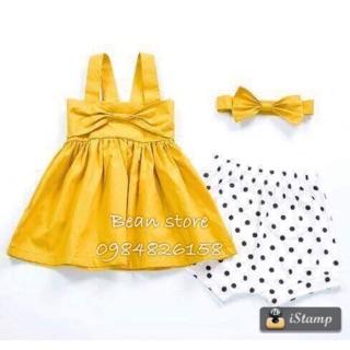 Váy nơ vàng hot hit