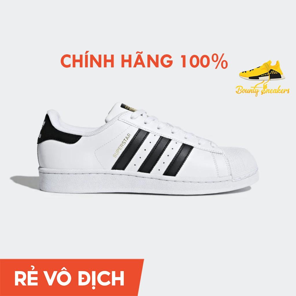 Giày Sneaker Thời Trang Nam Nữ Adidas Super Star  Trắng Vàng - Hàng Chính Hãng - Bounty Sneakers
