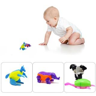 Đồ chơi biến hình dạng đại bàng/voi/rùa/kangaroo bằng nhựa nhiều màu sắc dành cho trẻ em