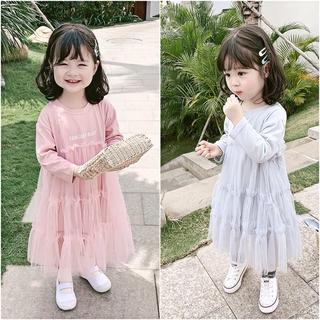 Đầm Xòe Công Chúa Phong Cách Hàn Quốc Cho Bé Gái