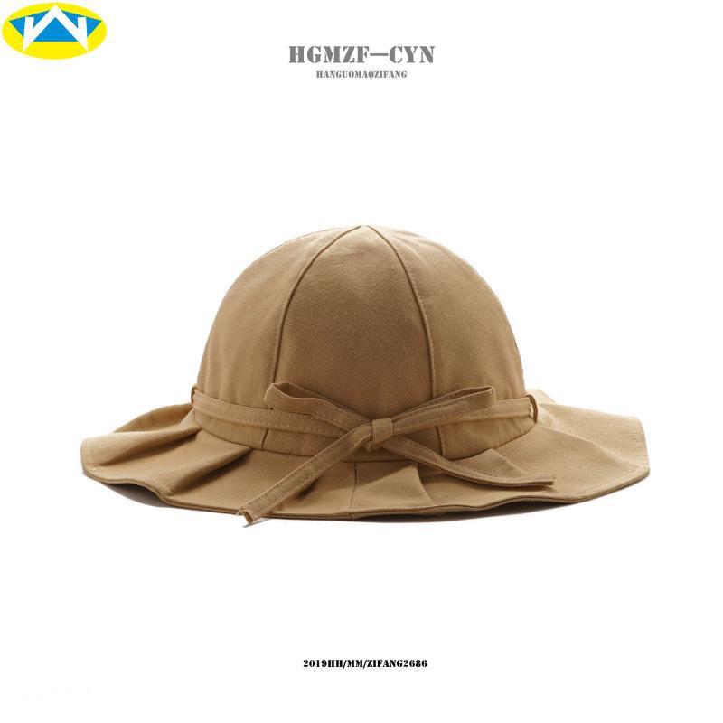 หมวกหญิงฤดูร้อนสดวรรณกรรมจีบชาวประมงหมวกหมวกง่ายหมวกน่าระทึกใจเวอร์ชั่นเกาหลีของป่าอ่างหมวกลำลอง