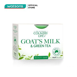 Xà Bông Country Life Goats Milk Green Tea 100g