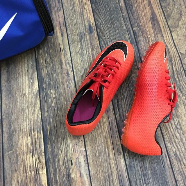 ⚡️⚡️⚡️[Bảo hành 2 năm] Giày đá bóng da Pu xuất khẩu cao cấp Nk ( đỏ cam)