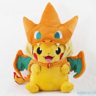 ✦♛✦Pokemon Pikachu Avec Charizard chapeau Peluche rembourré Animal Poupée 22.9cm