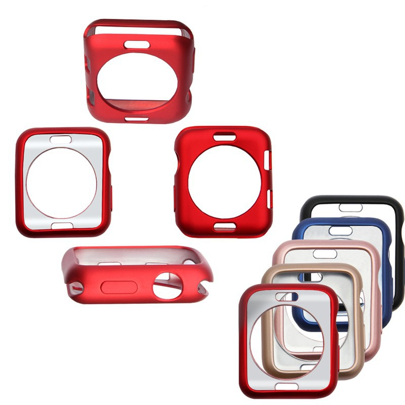 Paint TPU Protective Case Cover Frame For Apple Watch Series 1 2 3 4 38mm 42mm 40mm 44mm
