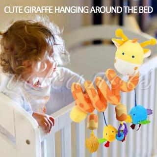 VOL Lathe Hanging Toy Spiral Plush Toys Baby Molar Teeth with Wind Bells Educational 2020