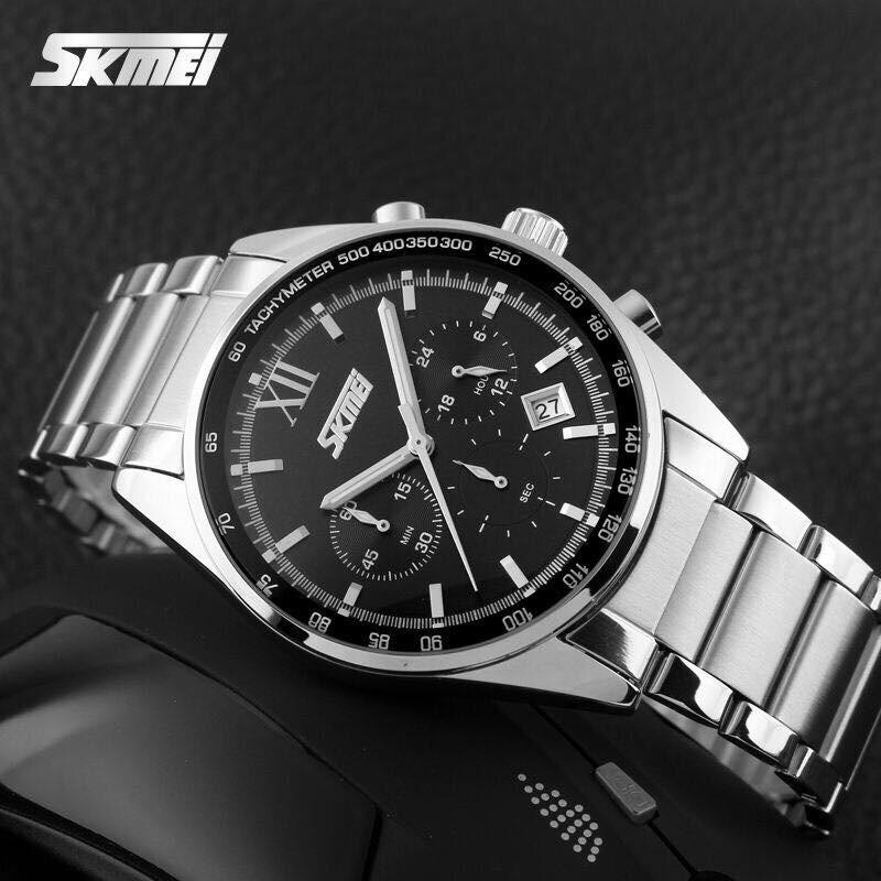 Đồng hồ nam Skmei 9096 mặt đen