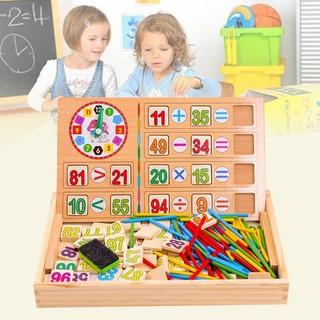 [Chuyên Buôn] bảng gỗ toán học thông minh cho bé có que tính