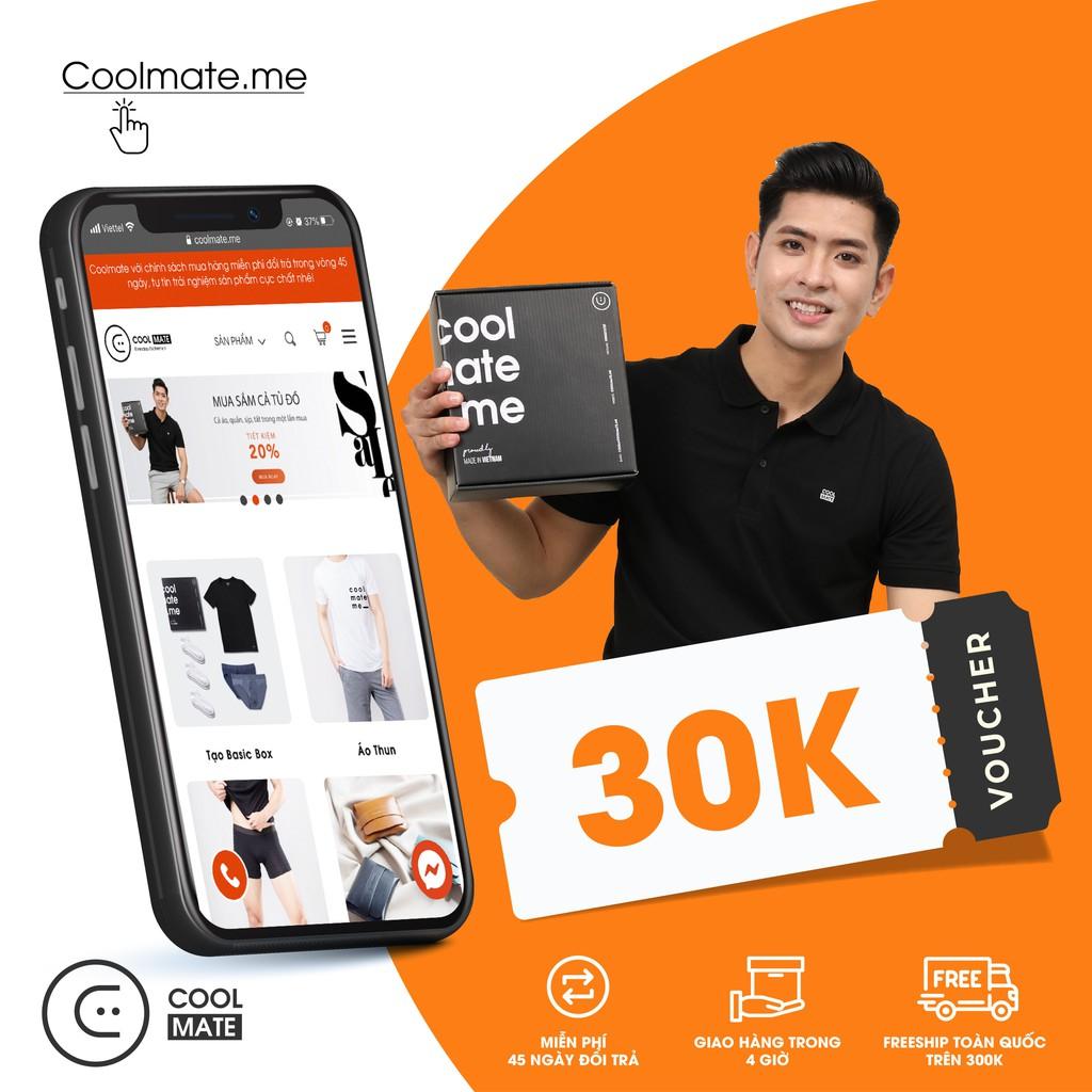 Coolmate - Mã giảm 30K mua quần áo tại web Coolmate.me