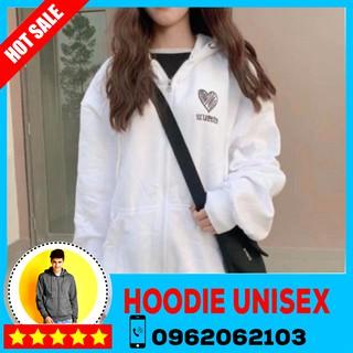 (HOOIDE) Áo Hoodie dây kéo. Áo khoác Hooide Nam nữ Nỉ ngoại (Đủ Size M,L,XL)