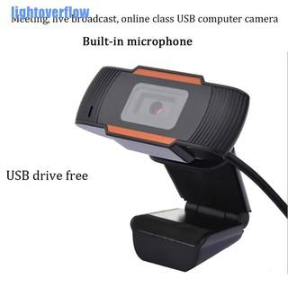 Webcam quay video kĩ thuật số USB 2.0 hd cho máy tính kèm mic có thể xoay được tiện lợi thumbnail