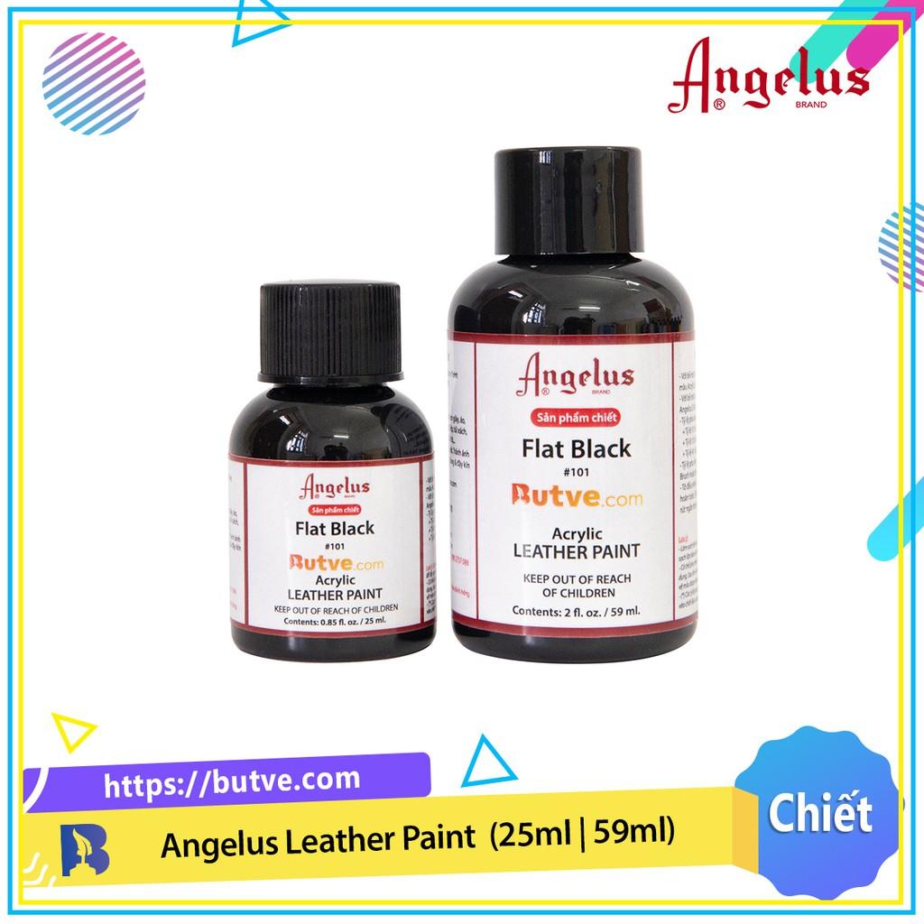 Màu acrylic vẽ da chuyên dụng Angelus Leather Paint - Flat Black (25ml   59ml)