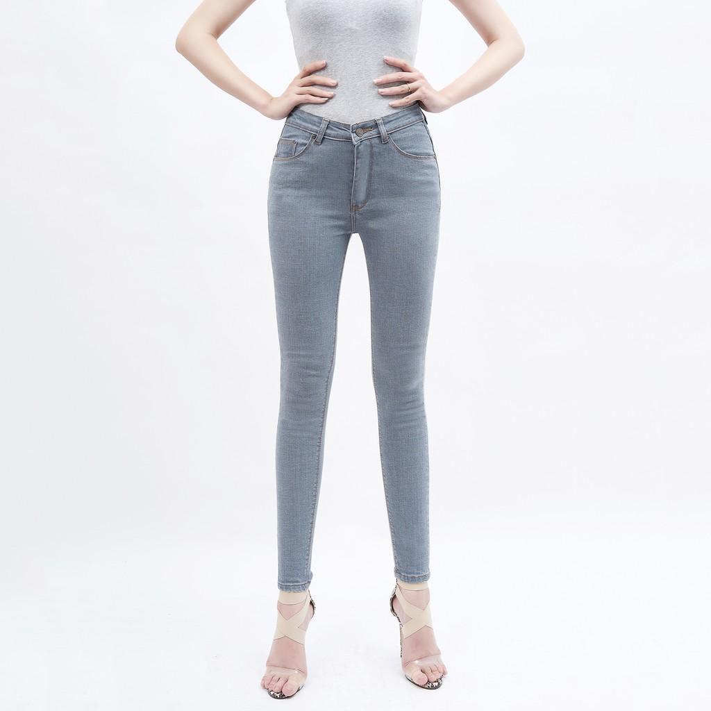 [Mã WA1211HOT giảm 12% đơn từ 99k] Quần Jean Nữ Lưng Cao AAA JEANS có nhiều màu