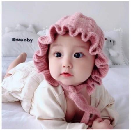 Nón Len Bèo Tiểu Thư Cho Bé, Mũ Len Bèo Siêu Cute Mẫu Mới Cho Bé Trai Bé Gái Cực Hot