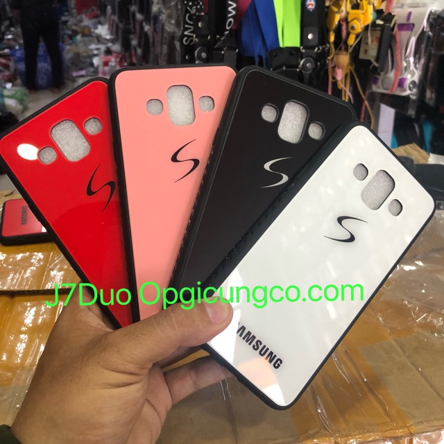 Ốp Samsung J7Duo kiểu kính bóng
